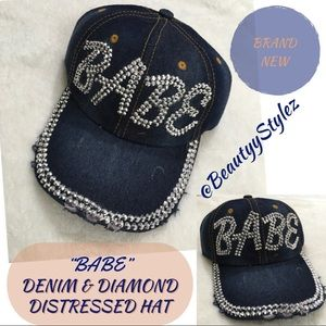 Accessories - ⬇️$40 New Diamond & Denim Blue Baseball Cap